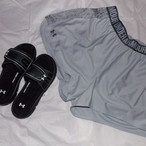 Under Armour Shorts and/or Slides Set